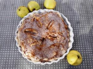 Apple pie i tærteform